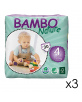 90 Couches Eco. Bambo Nature T.4 - 7-18kg - 3x30
