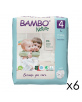 144 Couches Éco Bambo Nature T.4/7-14kg - 6x24